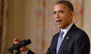 President Barack Obama makes remarks regarding the reopening of the federal government