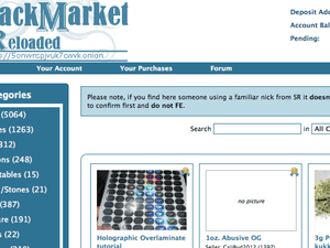 The front page of Black Market Reload.