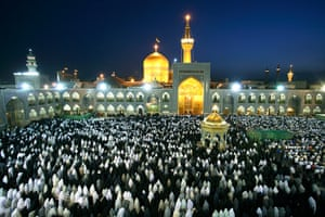Iran Tourism Push: Evening Prayers at the Shrine of Imam Reza in Mashhad
