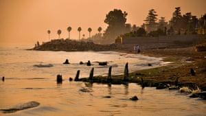 Iran Tourism Push: Sunset Beach at Ramsar, on the Caspian Sea