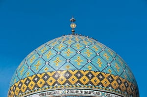 Iran Tourism Push: Dome of the mosque, in Hamadan, Iran