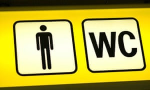 Sign for a men's WC or toilet
