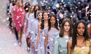 Models walk for Burberry Prorsum at London Fashion Week SS14
