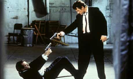 Buscemi and Harvey Keitel face off in Reservoir Dogs (1992).