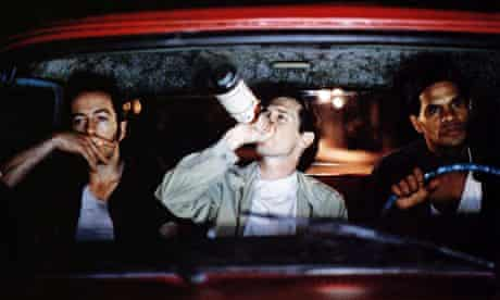 Buscemi in in Mystery Train with  Joe Strummer and Rick Aviles.