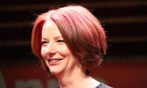 Julia Gillard gave her second public interview of the week in Melbourne.