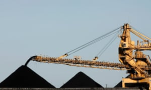 A coal stacker pours coal into piles ready for export in Newcastle in this February 20, 2008 file photo. Rio Tinto Ltd has lifted force majeure on coal shipments from its Hail Creek coking coal mine in Australia, the head of the company's Australian coal unit said on Tuesday.  REUTERS/Mick Tsikas/Files (AUSTRALIA) :rel:d:bm:GF2E43P0K4501