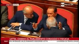 Silvio Berlusconi in the Italian Senate, October 2 2013