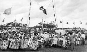 Folk dancers at Nigerian Independence festival, Enugu, October 1960