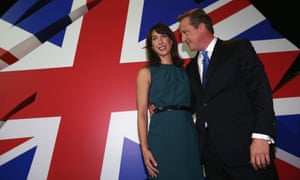 Samantha and David Cameron after his speech on 2 October 2013.