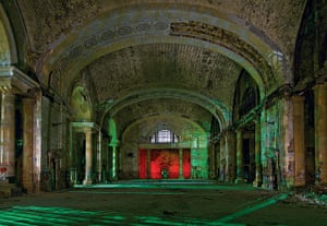 Nightwatch: The Main Hall of the abandoned Mercury train station in Detroit, Michigan.