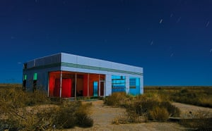 Nightwatch: This is a six-minute exposure of an abandoned Texaco station along Intersta