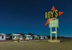 Nightwatch: Roy's abandoned motel in Amboy, California. Perhaps the most iconic and iso