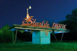 Nightwatch: Starlite abandoned drive-in ticket booth. Schertz, Texas. October 2007