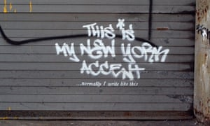 The second street mural found in New York by the British graffiti artist Banksy.