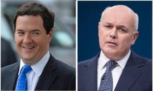 Don't squabble: George Osborne and Iain Duncan Smith.