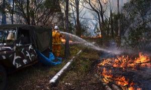 A bushfire in Western Sydney