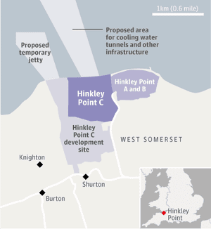 Hinkley Point map