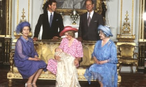 The Royal Family gathers for Prince William's christening, 1982.