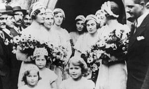 Wedding of Lady May Cambridge Oct 1931 (Princess Elizabeth bridesmaid)