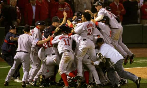 Boston Red Sox win the 2004 World Series