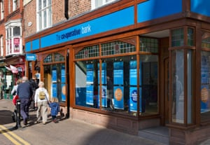 Co-operative bank branch in Chester town centre.