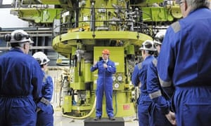 David Cameron delivers a speech to workers at Hinkley Point B power station