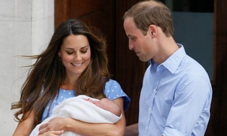 Prince William and Kate, Duchess of Cambridge with Prince George