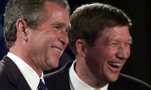 Republican John Kasich with George W Bush in 1999