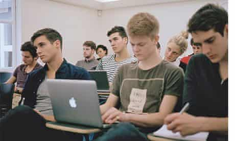Students in AC Grayling's Introduction to Philosophy lecture.