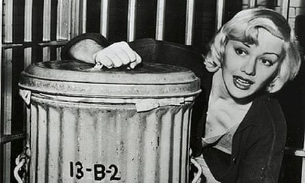 Lila Leeds polishes a dustbin during her first full day in Los Angeles County jail