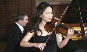 Min-Jin Kym plays her antique Stradivarius violin