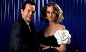 Bruce Willis with Cybill Shepherdin Moonlighting