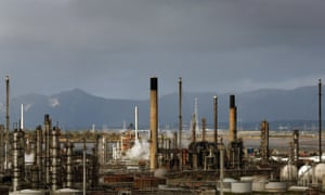 A general view of the Grangemouth oil refinery in Falkirk, Scotland, following a meeting where owners Ineos have decided to shut down the petrochemical side of the complex following the dispute over pay and conditions.
