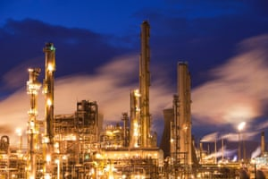 The Ineos oil refinery at Grangemouth in the Firth of Forth, Scotland, UK. It is Scotlands only oil refinery. It takes oil from a pipeline from the Forties North Sea production area, and processes 10 million tonnes of crude oil a year.