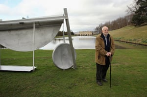 Sir Anthony Caro: Sir Anthony Caro poses in the grounds of Chatsworth House