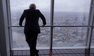 Boris Johnson at the Shard