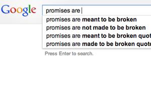 Google promises are...?