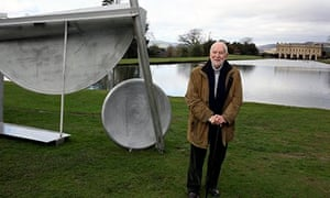 Sir Anthony Caro at his exhibition at Chatsworth House in 2012