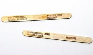 Jokes on lolly sticks
