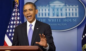 Barack Obama Makes A Statement On Reopening The Government In Washington