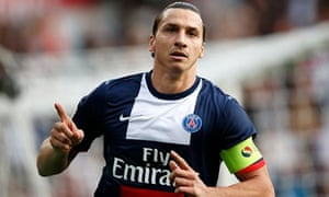 Paris Saint-Germain's Zlatan Ibrahimovic