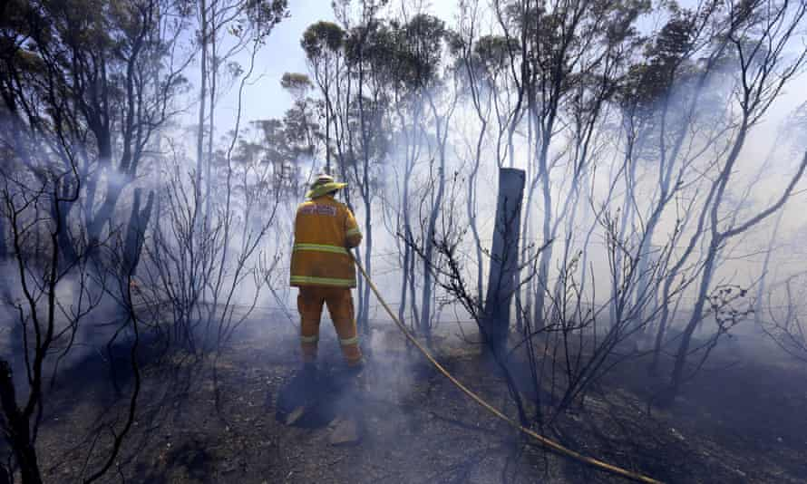 Firefighting in Bilpin in the Blue Mountains.