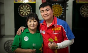 Erdene Mandakh and Baatar Tsend, Mongolian darts players