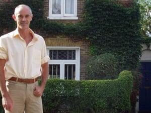 Donnachadh McCarthy outside his Camberwell home