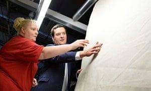 George Osborne visits AW Hainsworth factory