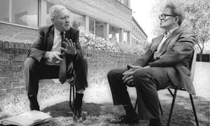 Tony Benn and Ralph Miliband at the Socialist Society Conference, Chesterfield