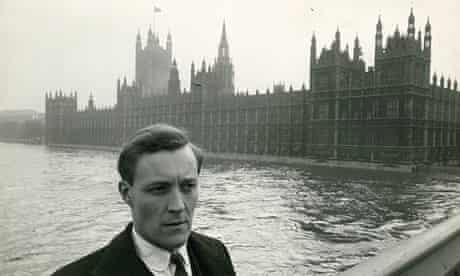 Tony Benn outside parliament in 1961.