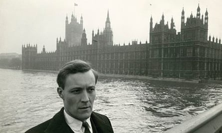 Tony Benn outside parliament in 1961.