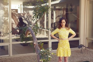 Emilia Clarke: Top and skirt by BCBG Max Azria